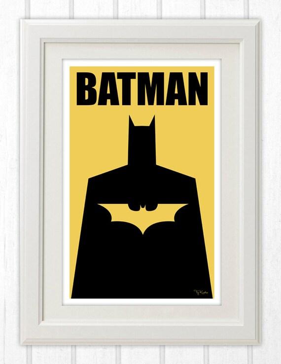 Batman Minimalist Poster 11x17 Instant Pdf Download Etsy