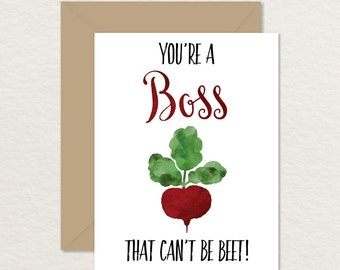 Funny Card For Boss Printable Appreciation Youre A That Cant Be Beet Supervisor Vegetable Pun