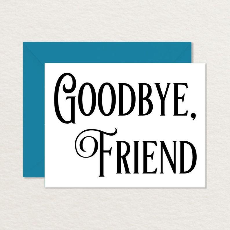 photograph about Printable Good Bye Cards identify Printable Goodbye Card / Typical Goodbye Card / Printable Farewell Card / Goodbye Close friend A2 / Shifting Card / Bon Voyage Card