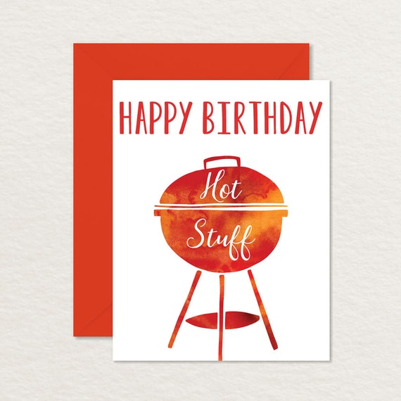 picture regarding Funny Birthday Cards Printable identified as Humorous Birthday Card / Printable Birthday Card /Joyful Birthday Scorching Things A2 / Birthday Card for Partner Spouse Girlfriend Boyfriend / Pun Card