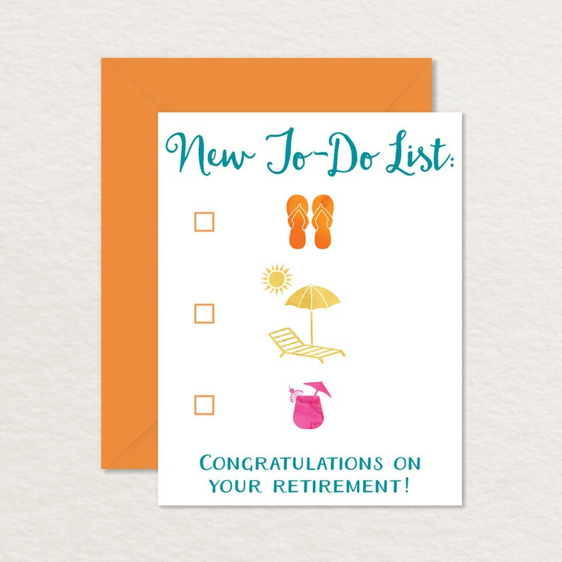 image regarding Printable Retirement Cards called Delighted Retirement Printable Card / Amusing Retirement Card / Congratulations Retirement Printable / Clean Towards-Do Record Seashore Daily life / Retiring Card