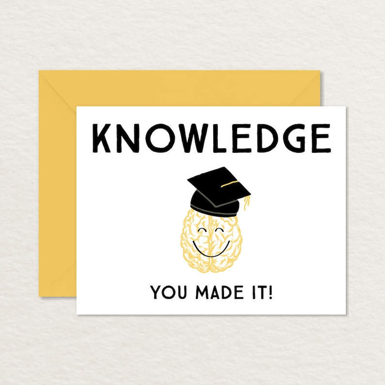 image about Graduation Cards Printable titled Amusing Commencement Card / Printable Commencement Card / Amusing Congratulations Card / Encounter On your own Generated It A2 / Amusing Card for Graduate