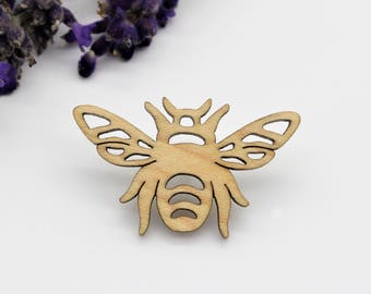 Bumble Bee Brooch | Laser Cut Nature & Insect Jewellery