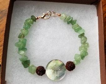 Aventurine Copper Tree bracelet