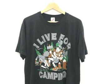 Vintage I Live For Camping T-shirt