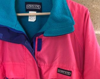 d398403999 Vintage 80 s Lands End Women s Winter Jacket Fleece Small