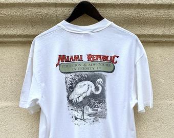 Vintage 80's University of Miami Banana Republic Double Sided T-shirt