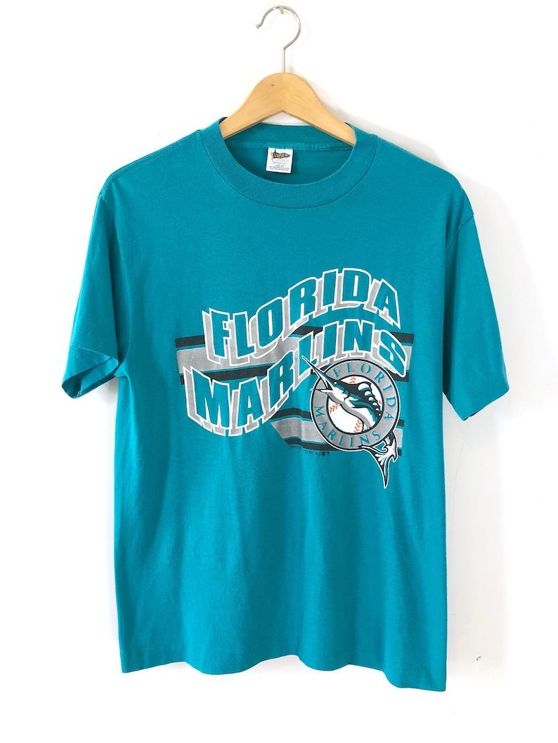 4dfa486b86a Vintage 1991 Florida Marlins T-shirt