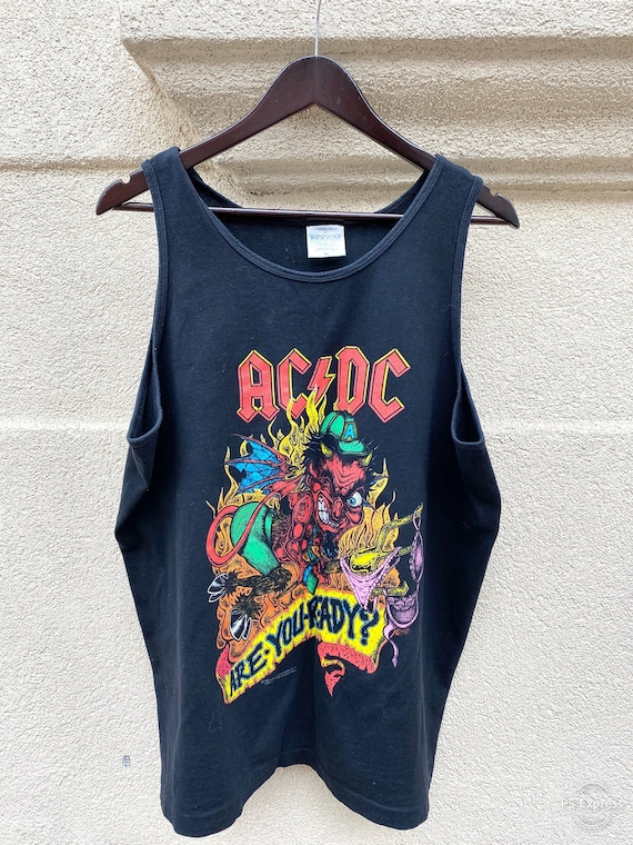 Vintage 1990 AC/DC Are You Ready Brockum Tank Top