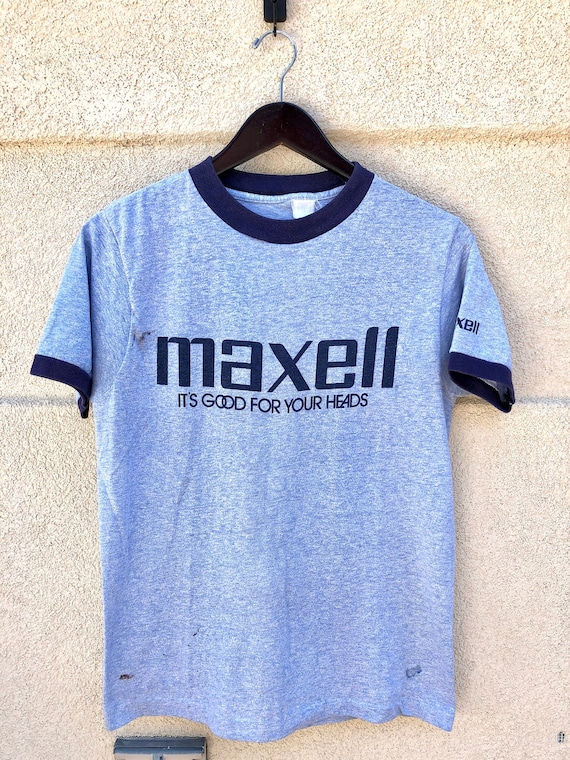 Vintage 80s Maxell Cassette Ringer T-shirt