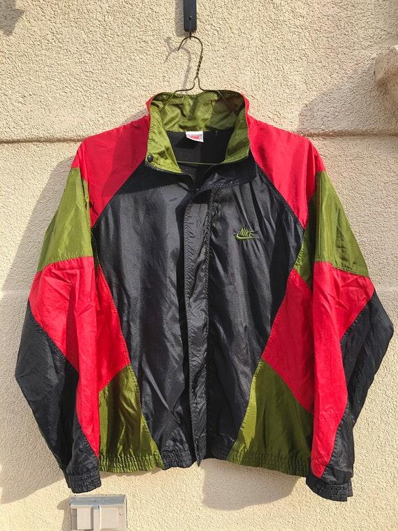 Vintage 90's Nike Fleece Lined Windbreaker