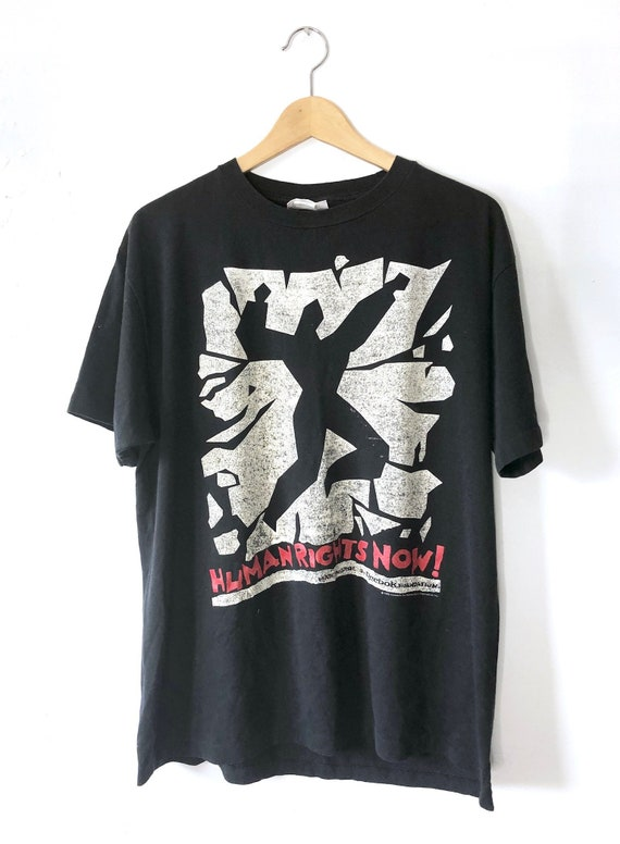Vintage 80's Reebok Human Rights Now Tour T-shirt