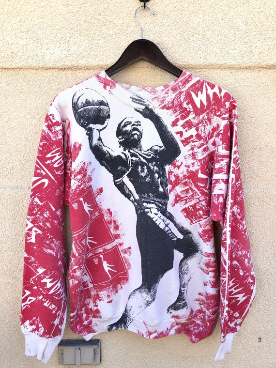 Vintage 90's Basketball All Over Print Sweatshirt