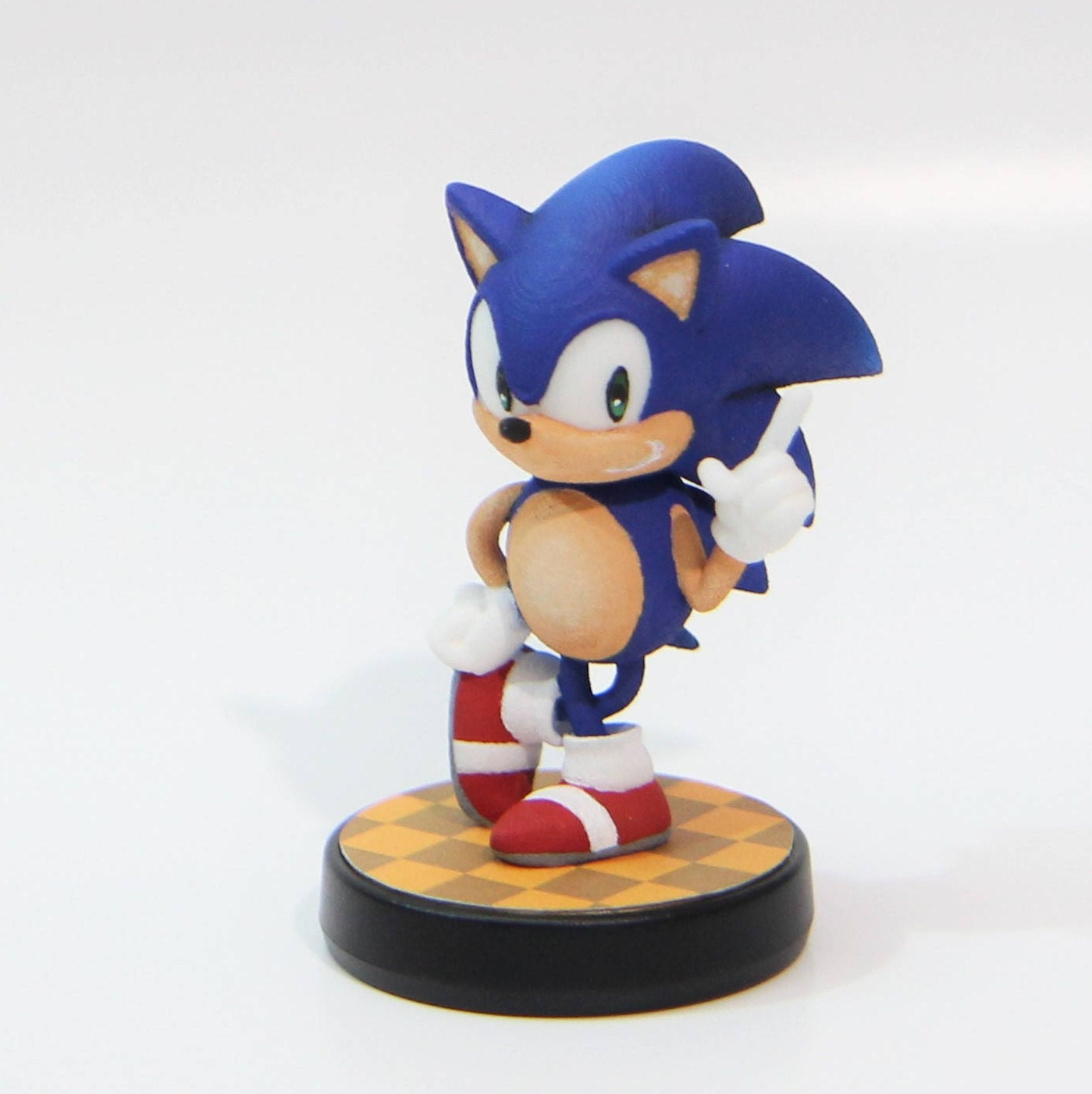 Benutzerdefinierte Amiibo klassische Pose Sonic Sonic Mania | Etsy