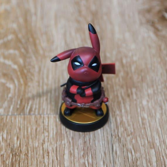 Custom Amiibo Deadpool Pikachu Pikapool Etsy