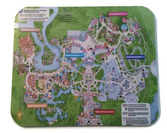 Disney Mousepad Magic Kingdom Park Map