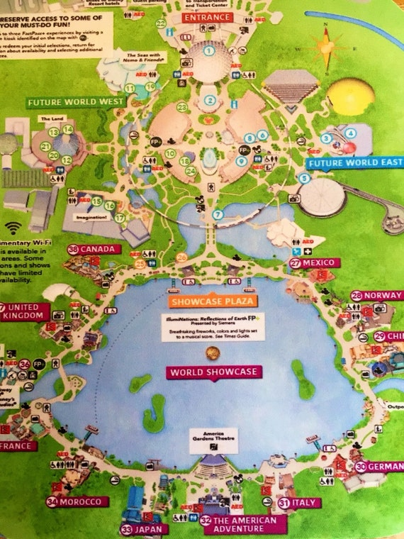 Disney Mousepad Epcot Park Map