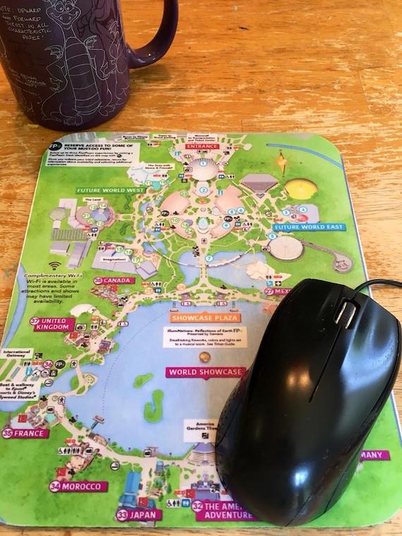 Disney Mousepad Epcot Park Map
