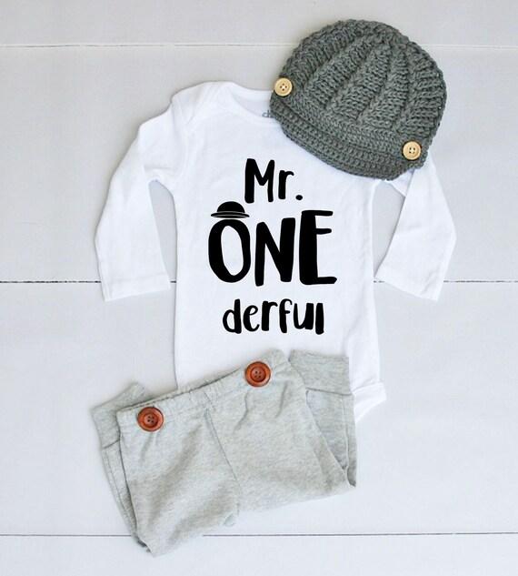Favoriete 1e verjaardag Baby Outfit voor jongen eerste verjaardag Baby | Etsy &WM87