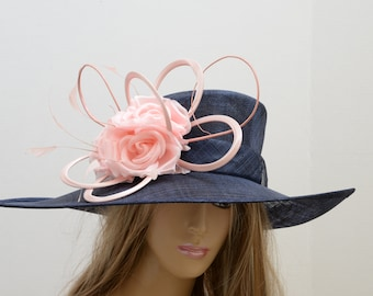 New High Quality large disc Sinamay Fascinator,Kentucky Derby,English Royal,Wedding,Church,Formal,carriage driving hats Special Occasion Hat
