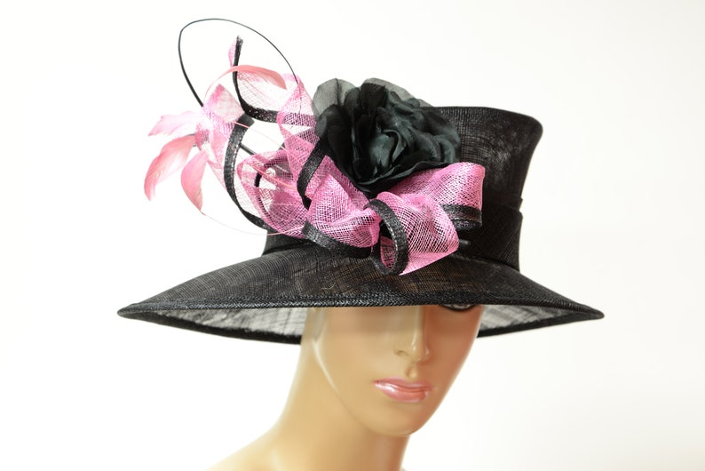 902b5c71b9172 2019 New collection High Quality Sinamay hat Kentucky Derby