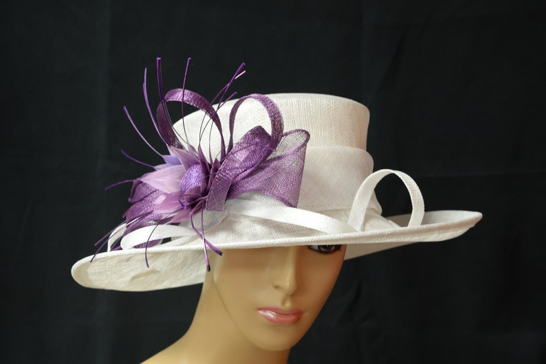 4a93d1a9a52cc 2019 collection New High Quality Cream purple Sinamay hat