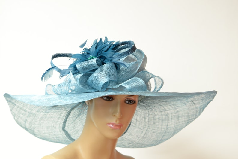 3ce26874 2019 collection New High Quality Teal Sinamay hatQUEEN'S   Etsy