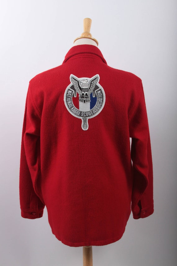 Boy Scouts of America Official Jacket, Red, Wool,