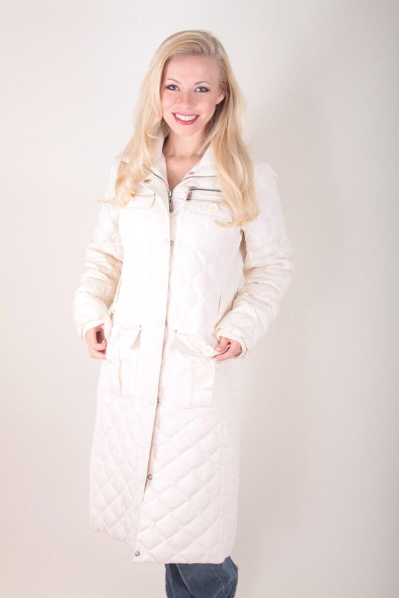 Ski Coat Long Coat ~ Boom Thang ~  170213 White Coat Vintage Small Skiing Puffy Coat M60 Miss Sixty Powder Jacket Puffy Winter Coat