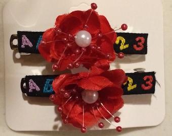 ABC Flower Barrettes