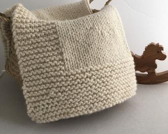 Knit Baby Blanket/THE JANE BLANKET
