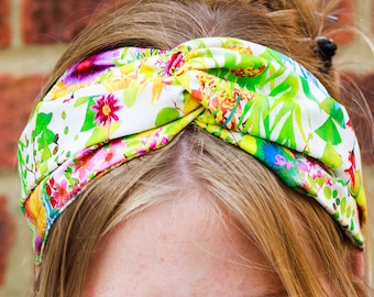 Liberty Print headband - Twist Head band -  Liberty Print Hair Band - Mummy and Me - Twist Hair Tie - Yoga Headband - Festival Headband  -