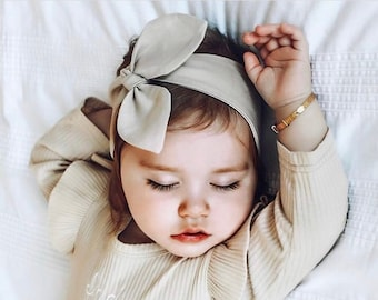 Newborn Baby Girl Bow Head Wrap Turban Top Knot Headband Hair Bands Accessories Exquisite Traditional Embroidery Art Kids' Clothing, Shoes & Accs
