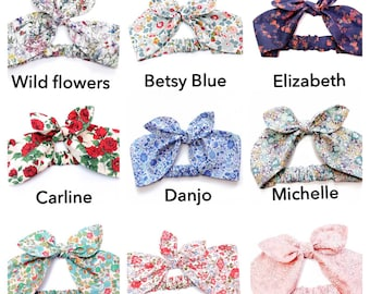 Top Knot Headband - Liberty print hair tie - Betsy - Baby Turban - Girls Hair Tie  - gift Liberty Hair Bow - Hair accessories - Best selling