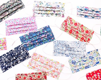 Liberty print Face Mask, next day dispatch, made in the uk, facemask with filter, nose wire, fashionable face mask, luxury mask