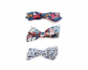 Liberty now set of 3 baby bows - Pigtail Bow - Liberty Hair Accessories - School Girl Bow - Baby Hair Clip - mini bow