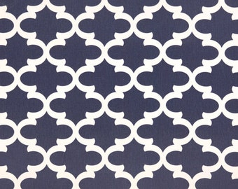 Premier Prints Fynn in Light Navy Blue (Premier Navy) 7 oz Cotton Home Decor fabric, 1 yard