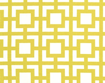 Premier Prints Geometric GiGi in Saffron Yellow 7 oz Cotton Home Decor fabric, 1 yard