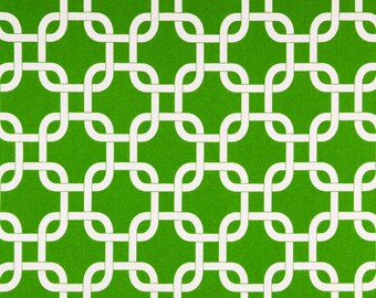 Premier Prints Geometric Gotcha in Callie Green 7 oz Cotton Home Decor fabric, 1 yard