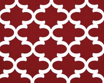 Premier Prints Fynn in Timberwolf Red Macon Home Decor fabric, 1 yard 7 oz Cotton