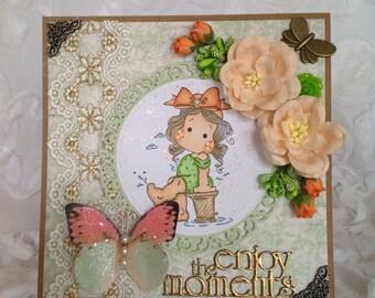 Magnolia Sunbathe Tilda Card