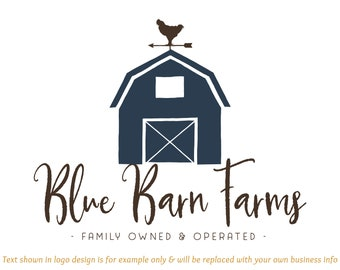 9fce91a7c601 Barn Premade Logo Design - Includes files for Web and Print + Watermarks!  Perfect for Farmhouse Boutique, Farm, Mercantile + much more!