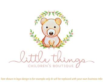 40972dab3f64c Teddy logo design   Etsy