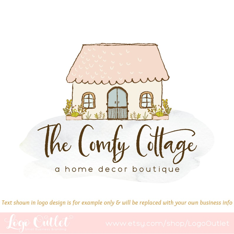 Excellent Cottage Premade Logo Design Blog Header Web Print Watermark Files Perfect For Boutique Handmade Studio Home Decor Store More Download Free Architecture Designs Sospemadebymaigaardcom