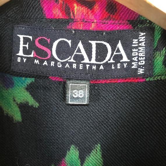 Escada by Margaretha Ley wool blend blouse - image 4