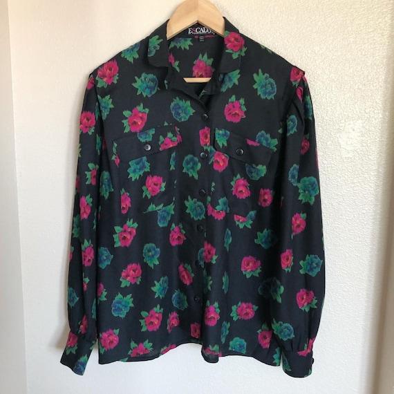 Escada by Margaretha Ley wool blend blouse - image 1