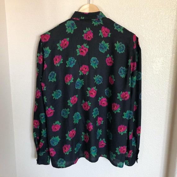 Escada by Margaretha Ley wool blend blouse - image 3