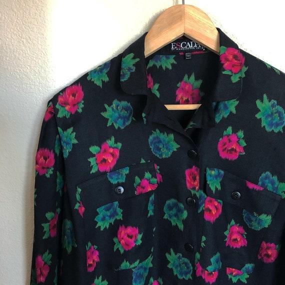 Escada by Margaretha Ley wool blend blouse - image 2