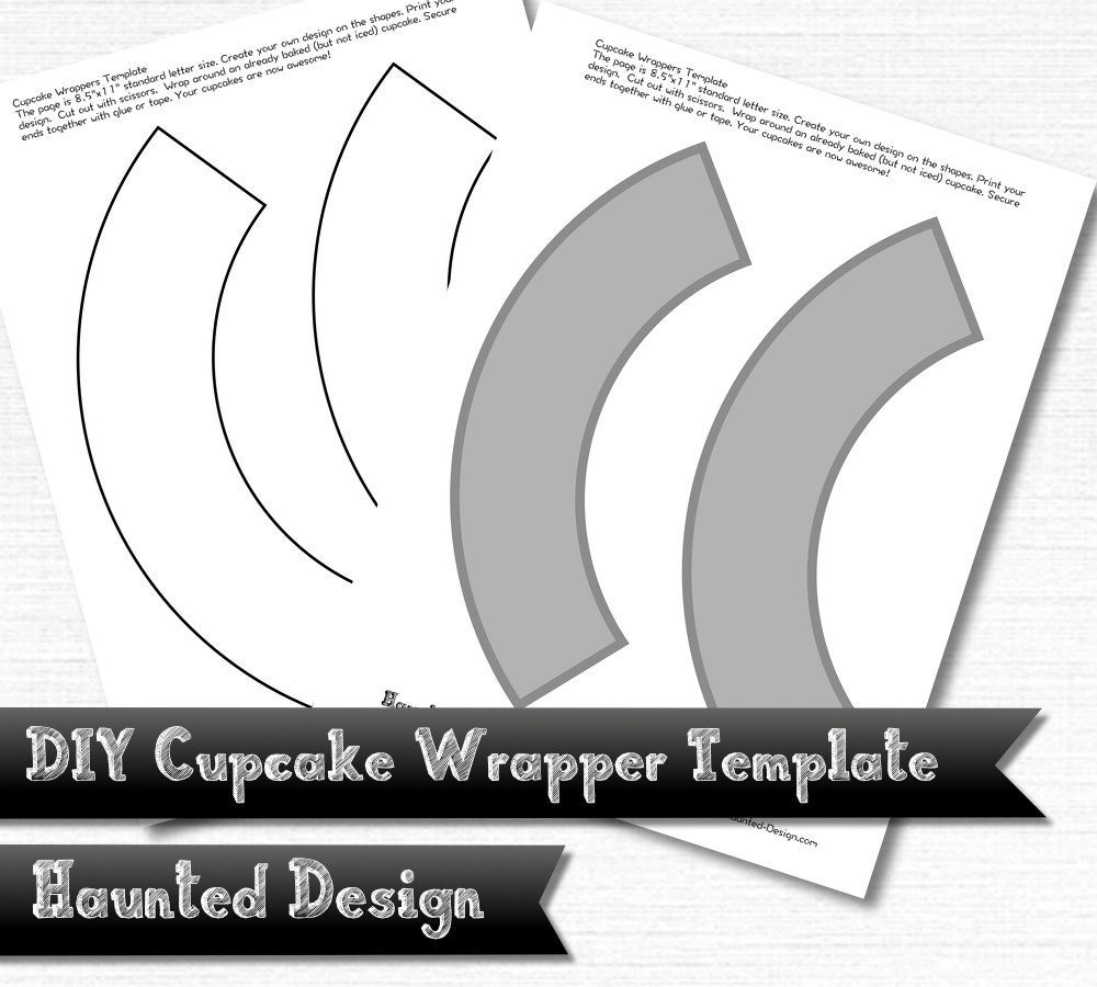DIY Cupcake Wrapper Template for Parties Weddings Celebrations