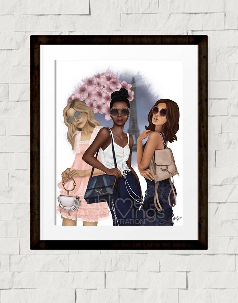 Fashion illustration  Fashion art print  Paris Girl image 0